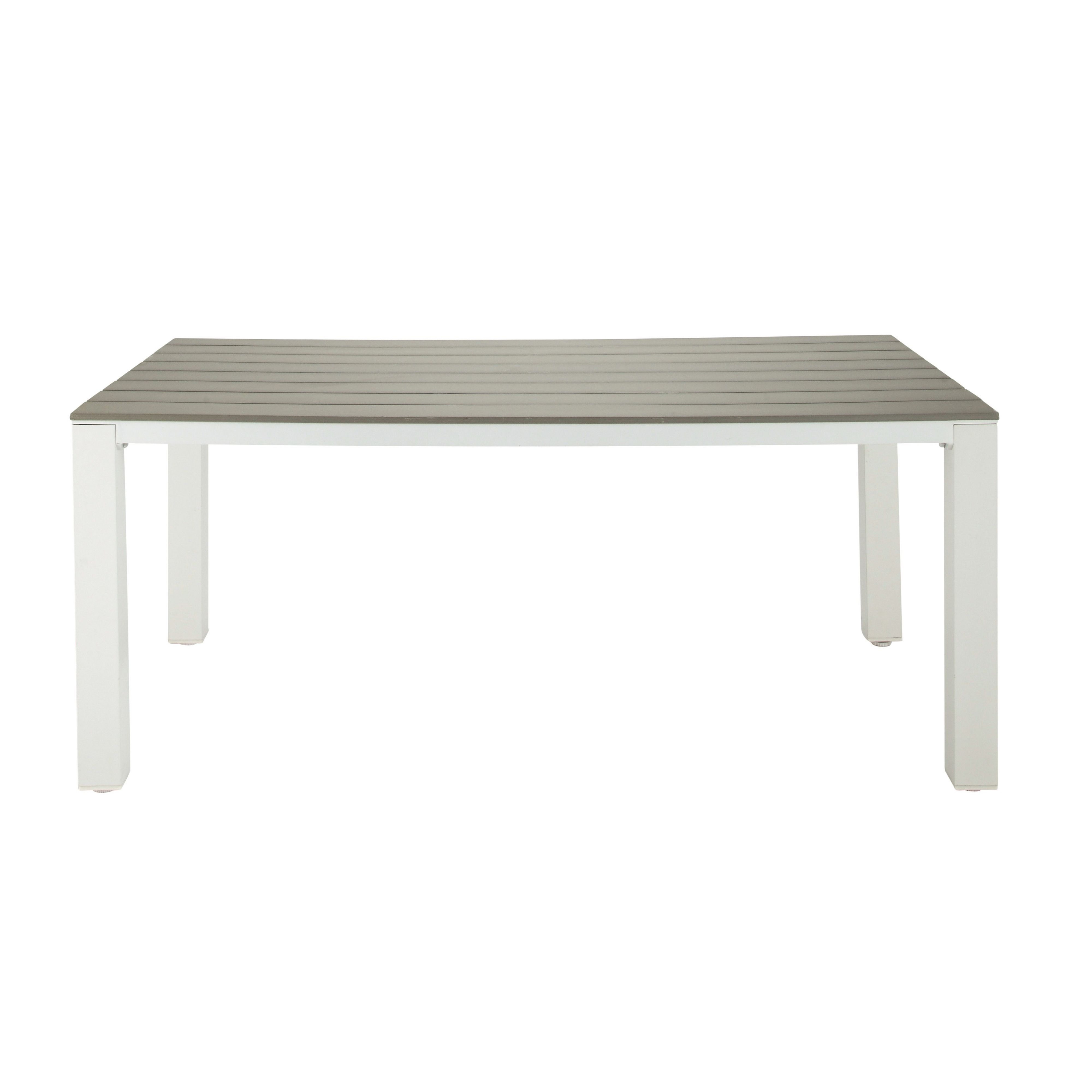 Table de jardin 6 personnes en aluminium et composite L180 ...