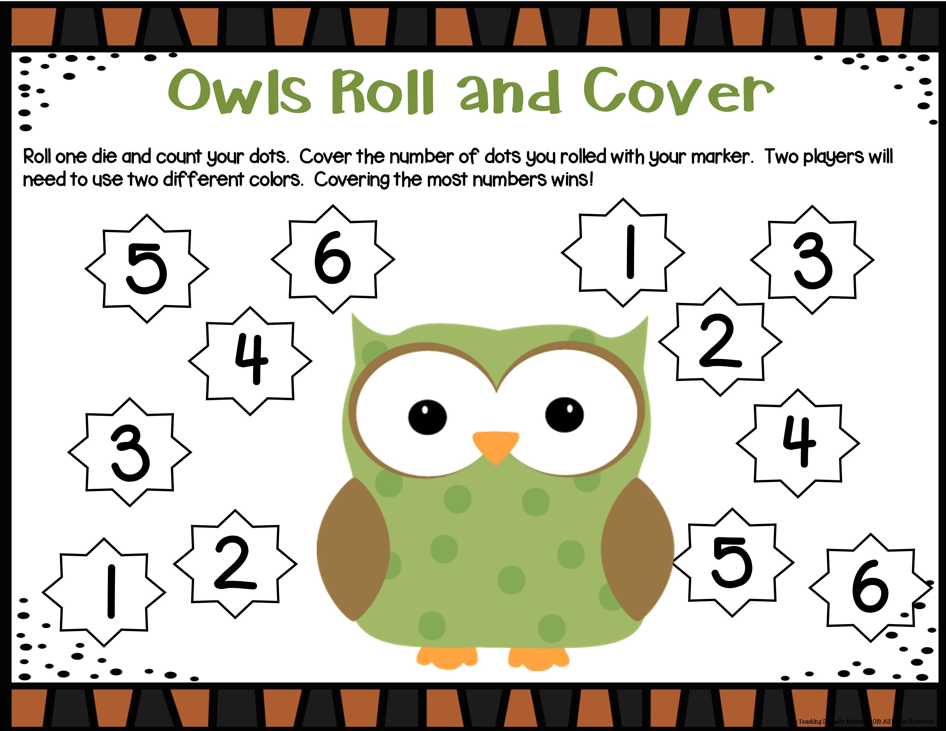 Owls Unit Activities Amp Center
