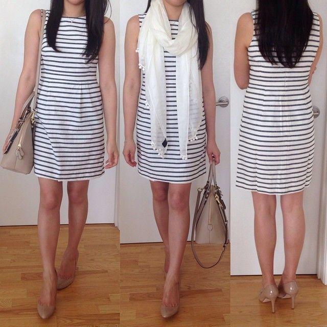 @LOFT Striped Linen Cotton Sheath - purchased in 0P
