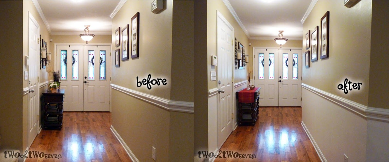 paint half wall with chair rail | Do you have a chair rail ...