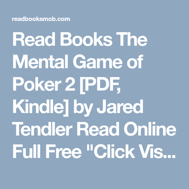 The mental game of poker free pdf no more cs go gambling