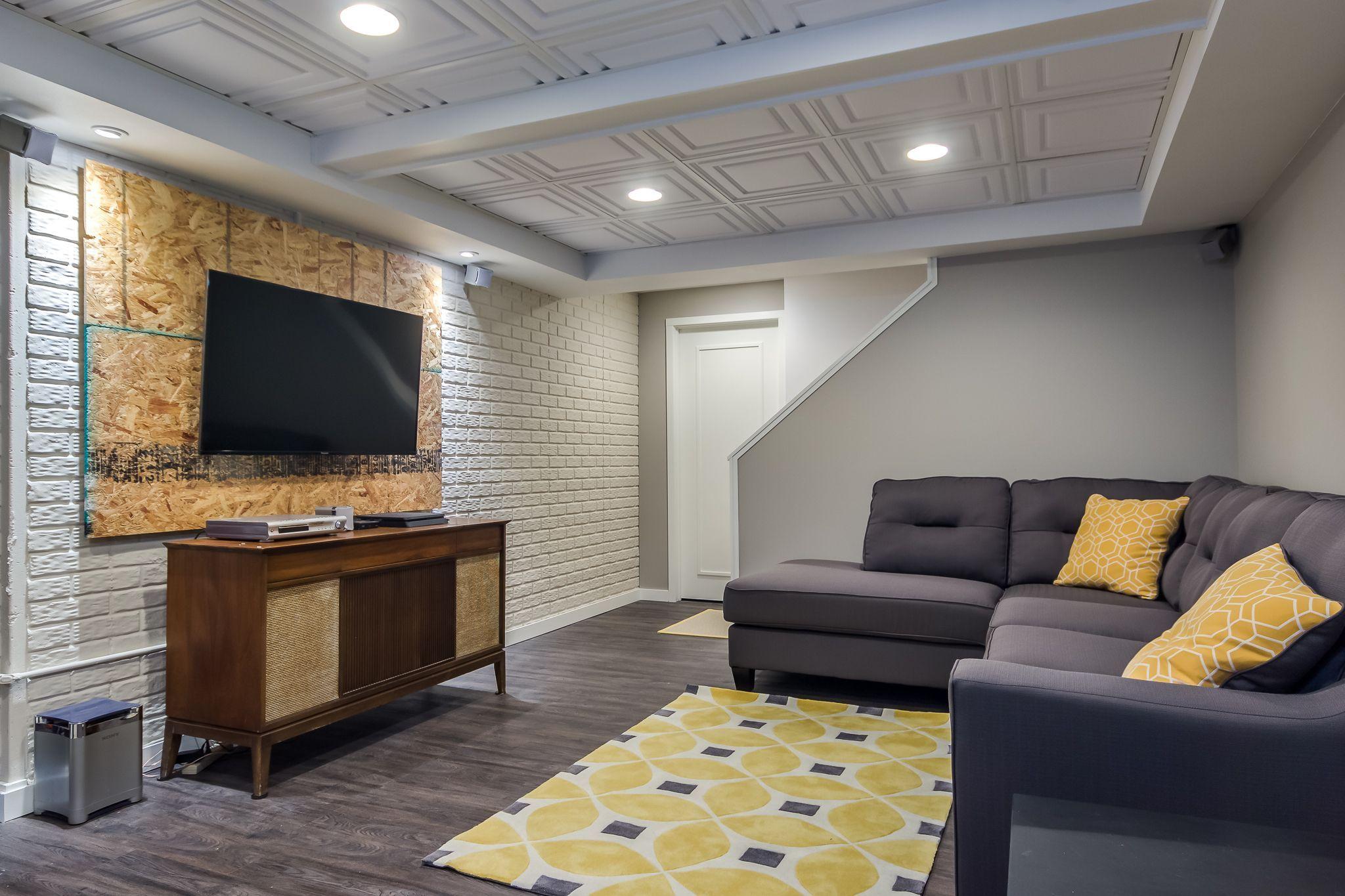 ceiling tiles basement