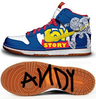 huge selection of 11285 bbd57 Toy Story Nike Kicks with Andy Signature on Bottom of Shoe.  Sneakers