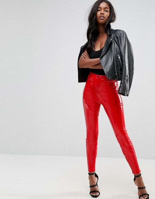 Vinyl Trousers - Red Monki ldegL