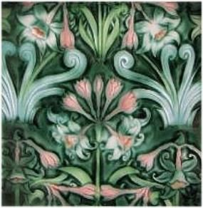 Verdant Tile Eight Inch Art Tile