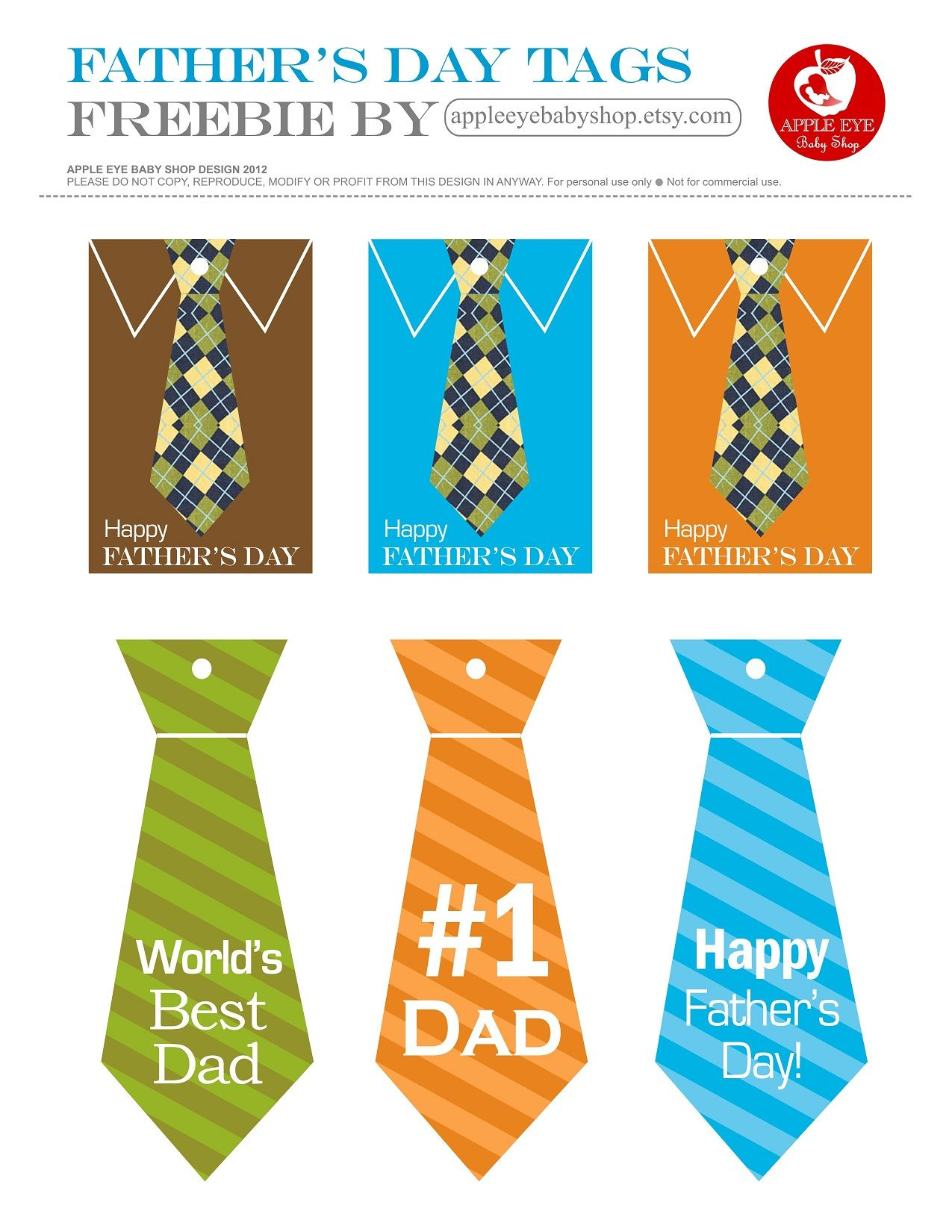Free Printables Happy Father S Day T Tags Ties No 1