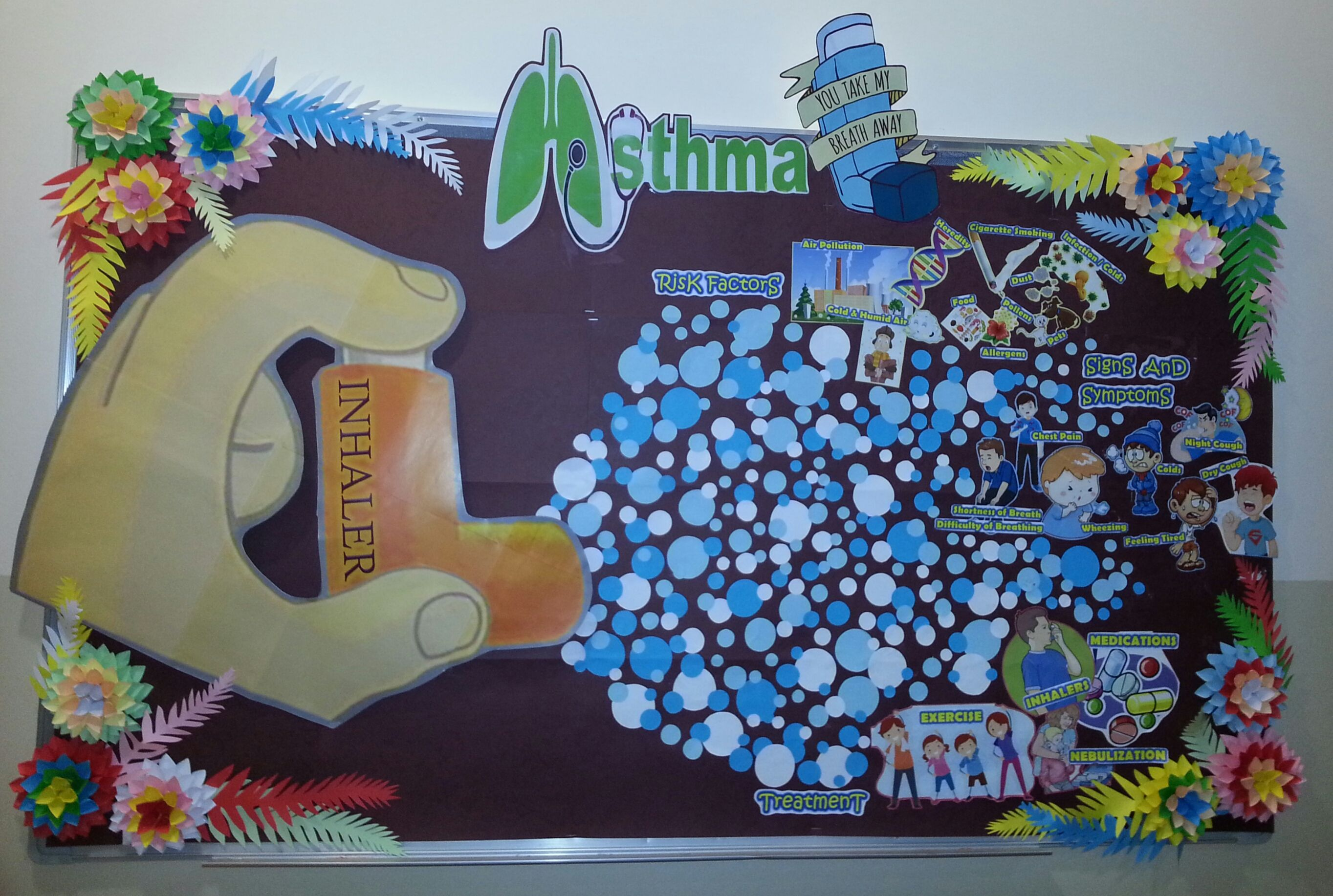 Asthma (With images) Bulletin board decor, School