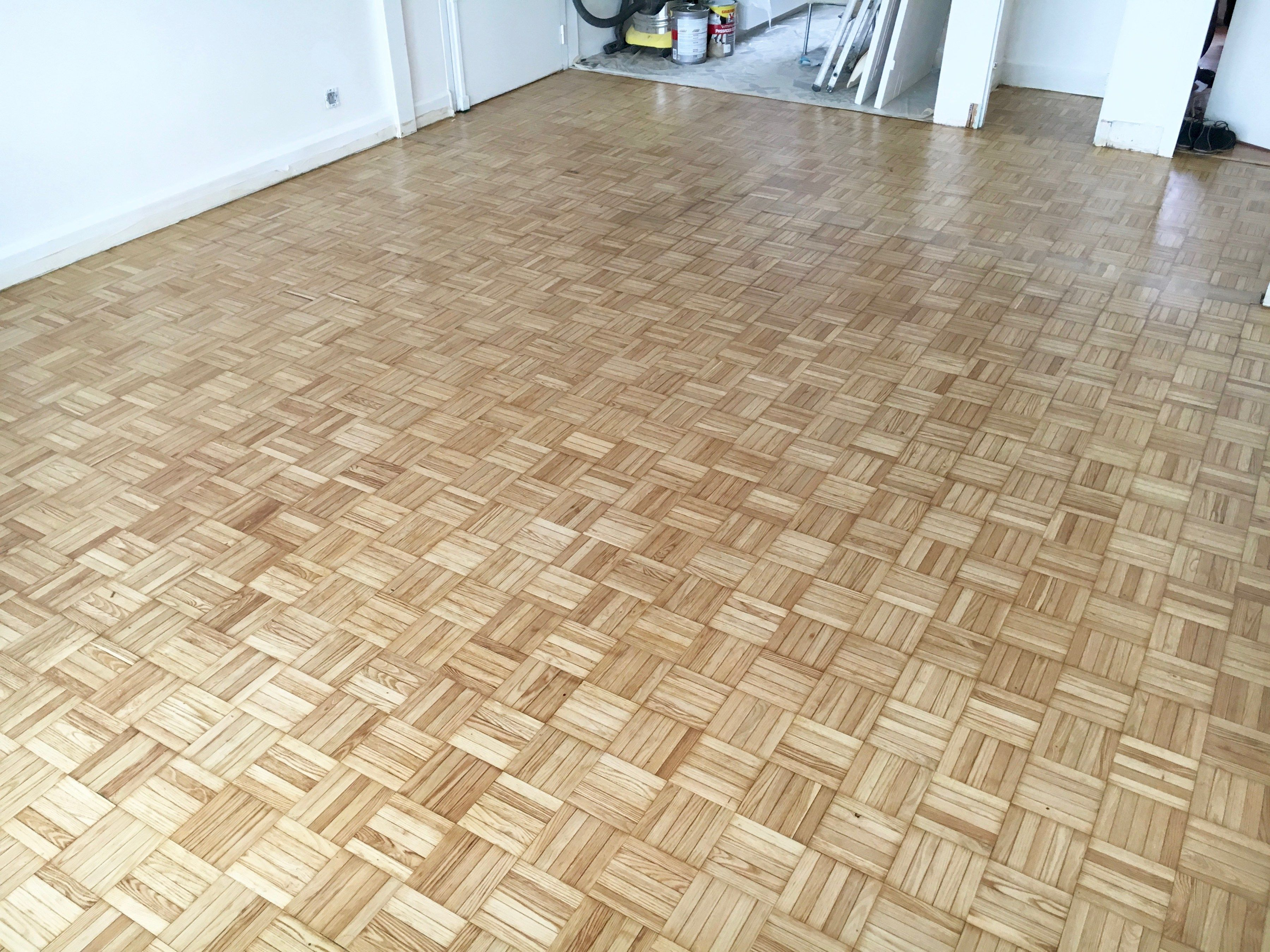 The Results After Renovating The 5 Finger Parquet Floor Floors In