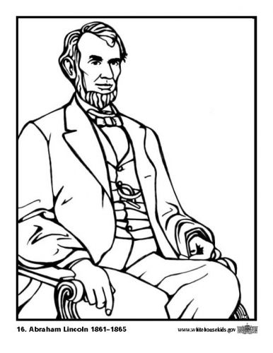 Coloring Page  Abraham Lincoln