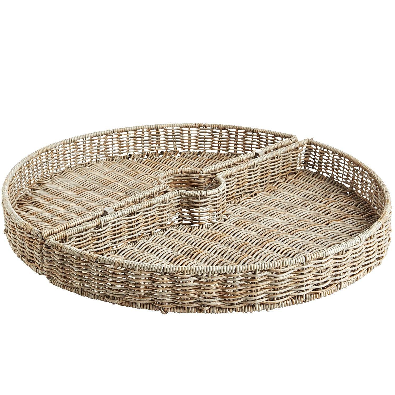 Storage Basket Rectangular Natural 10L x 12W x 2 1//2H