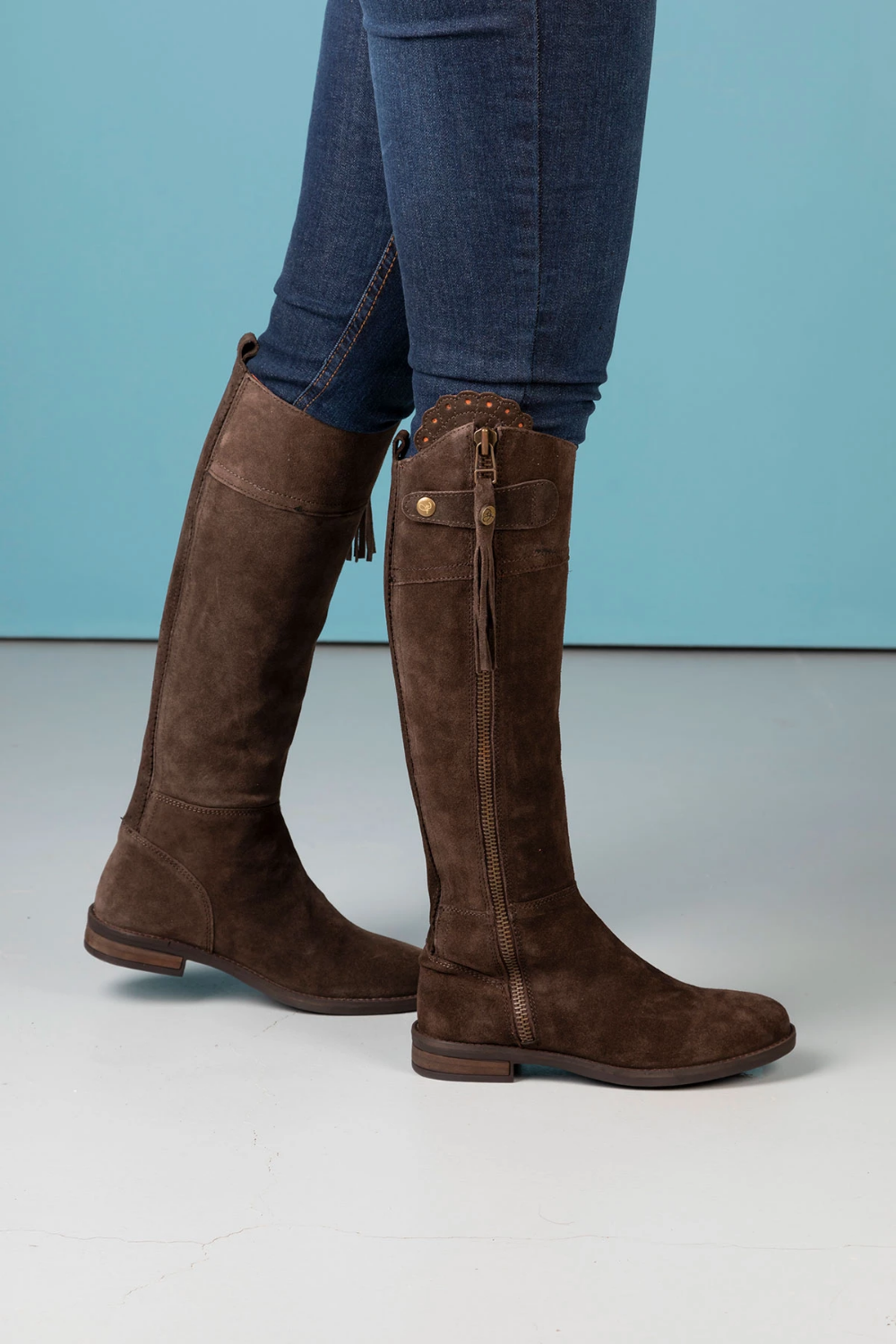 Ladies Tall Suede Boots UK | Womens