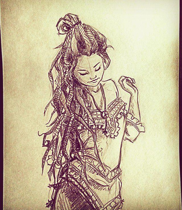 Ippie Dread Girl Art Drawing Draw Doodle Sketch Sketchbook Illustration Concept Design Hippie Hippiestyle Boho Drawing Dreads Girl Hippie Designs