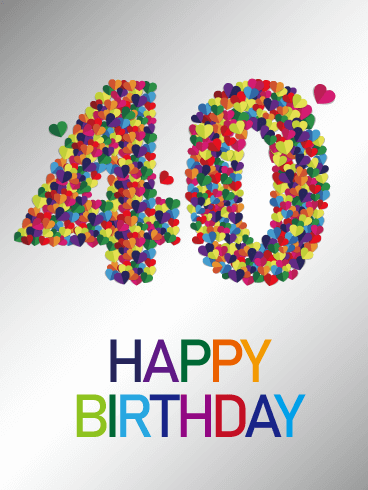 Colorful Happy 40th Birthday Card Turning 40 Youre Over The Hill Celebrating Years Of Life Is An Exciting Occasion But It Can Easily Get Lost In