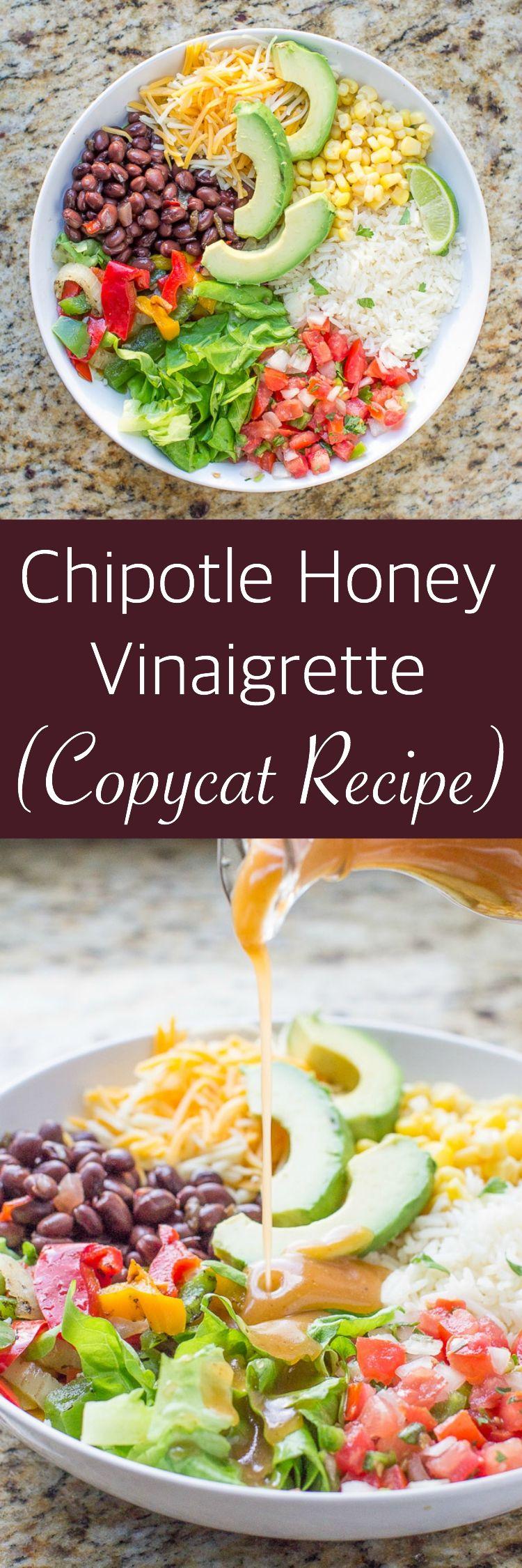 Chipotle honey vinaigrette recipe copycat recipe