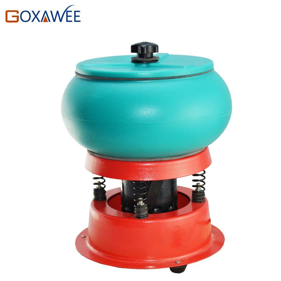Goxawee mini vibratory tumbler rock polishing machine with