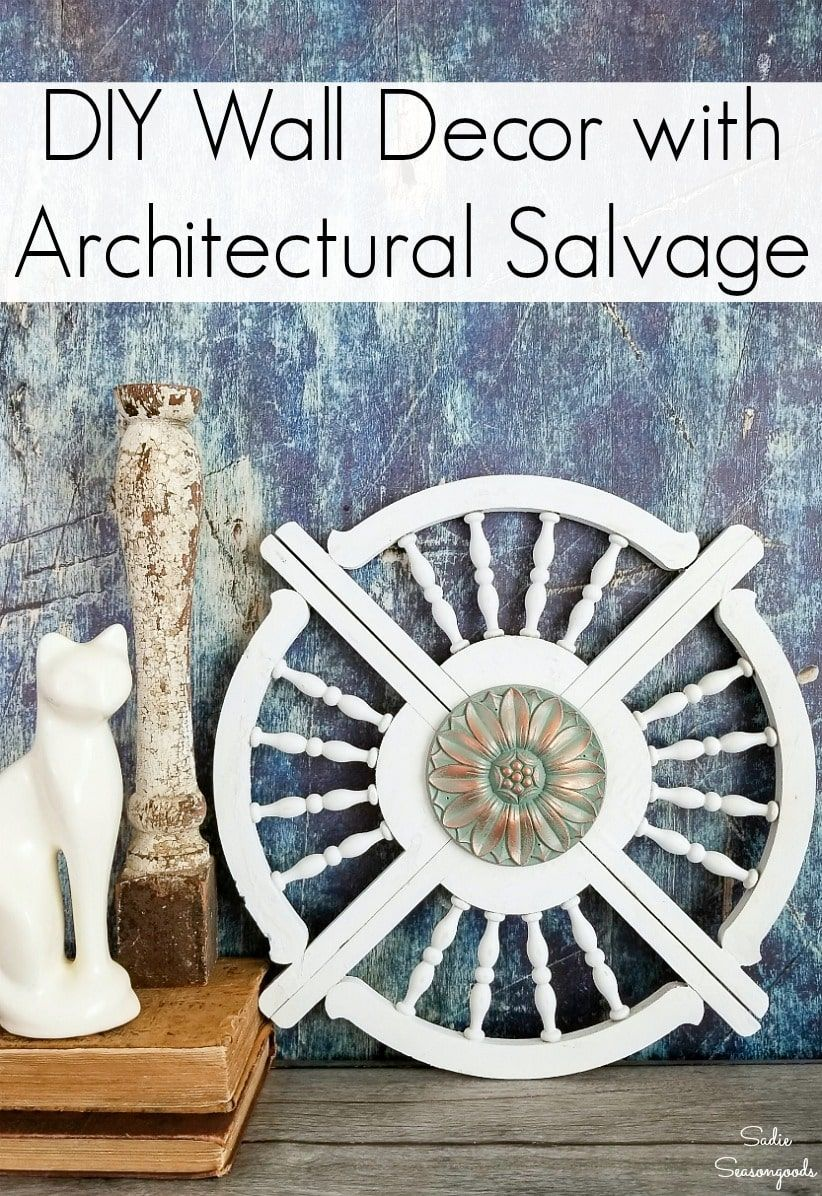 Architectural wall art from porch brackets and a vintage