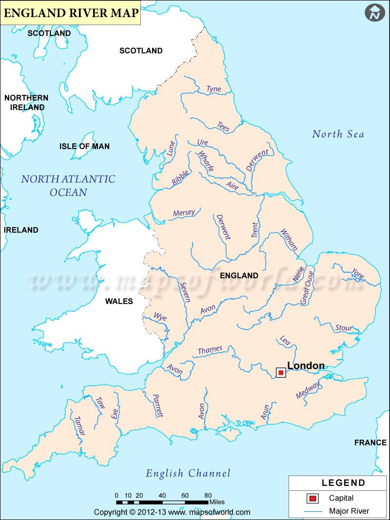 A Map Of The Uk Rivers.Map Of Rivers Of England Engalnd Rivers Map England Map