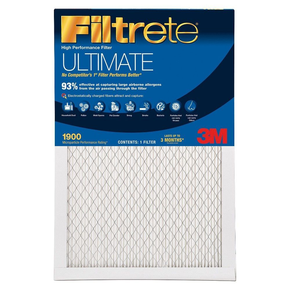 Filtrete Ultimate Allergen 14x20x1, Air Filter Air