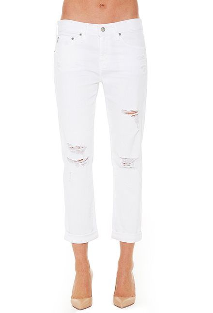 Busted The Jeans Ag Dsd1575 Slim Slim Official Ex Year Boyfriend Store White Women's 1 qzqtwd