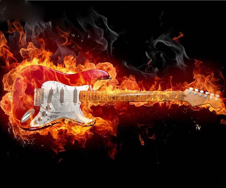 3d Guitar Hd Wallpapers These Wallpaper Backgrounds Are Free To Download And Available In High Definition For Your Desktop Pc A Easy Guitar Rock Guitar Guitar