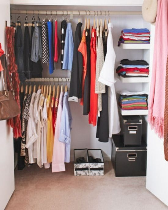 ideen kleiderstange design organisation system Kleiderschrank - schlafzimmer ohne kleiderschrank