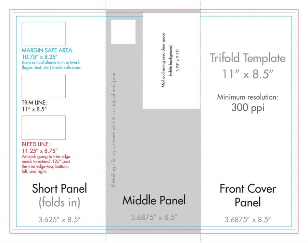 X Tri Fold Brochure Template Us Press Intended For 8 5 X11 Brochure Template 10 Professional Temp Brochure Template Brochure Folds Brochure Template Psd