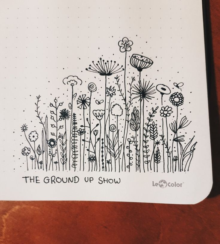 Flowers drawings in my journal