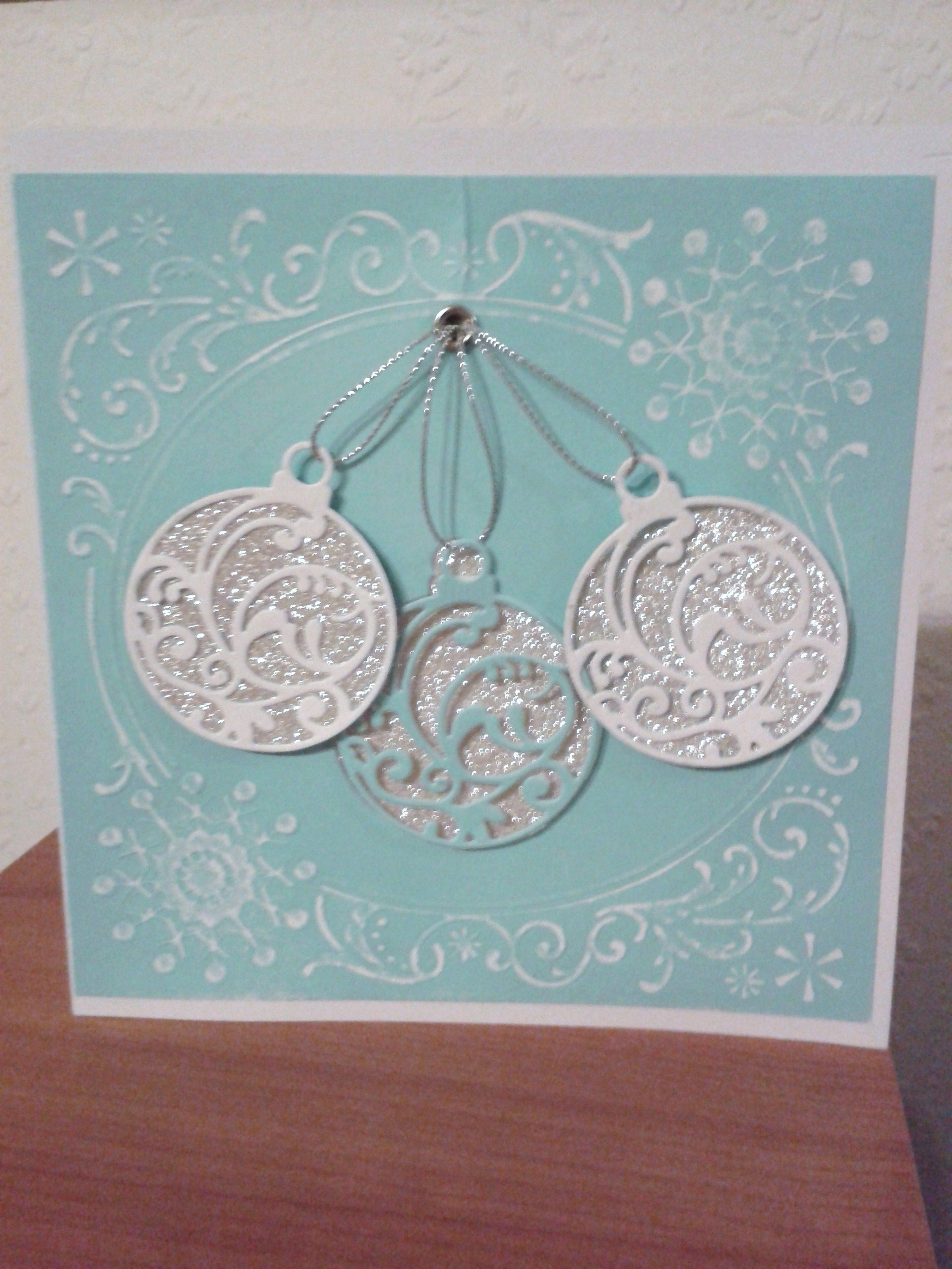 Die cut Christmas Card, I have embossed the card and die cut the ...