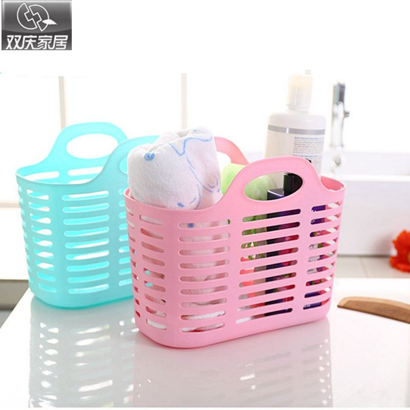 Storage Basket New Colored Fashion Hollow Plastic Portable Kitchen