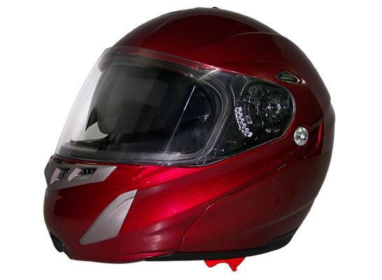 DOT Daytona Edge Black Cherry Modular Motorcycle Helmet