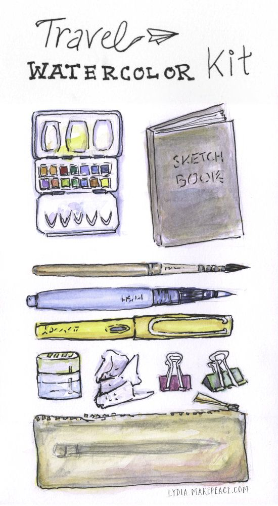 Travel Watercolor Kit Watercolor Kit Travel Sketchbook Urban