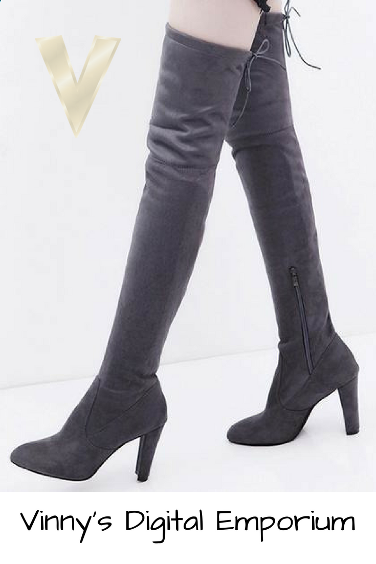 fb1d94d955a Searching for a nice new pair of cute high heel boots  Find a great  selection of women s over-the-knee-high boots at Vinny s Digital Emporium.
