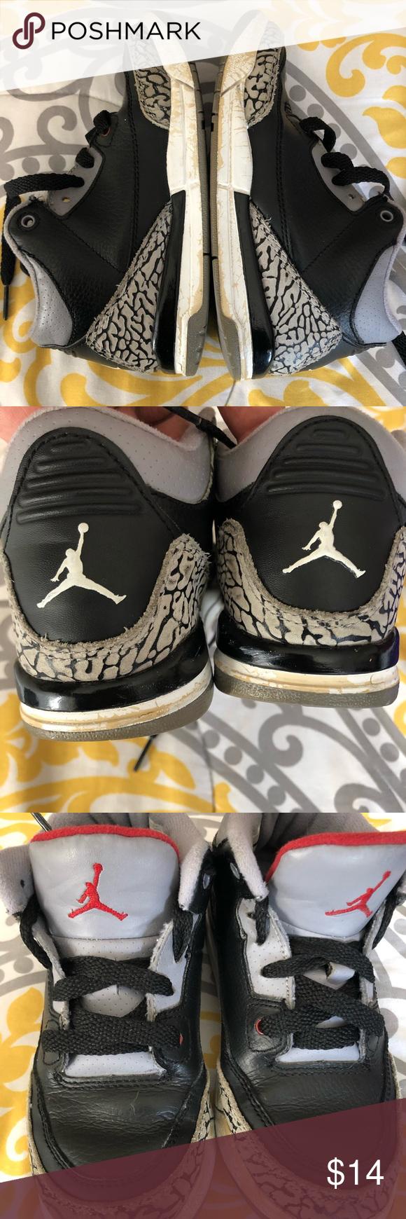 """Nike Air Jordan 3 """"Black Cement"""