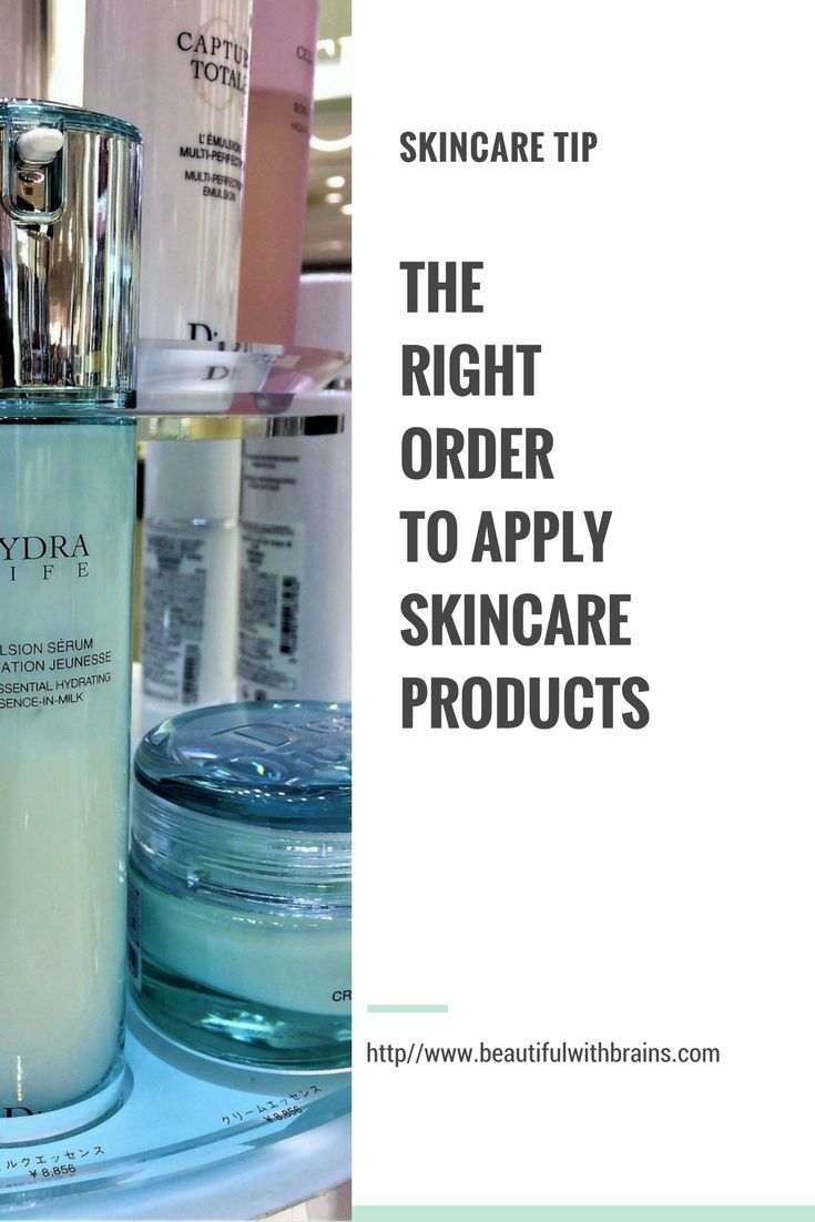 The right order to apply skincare products #skincareroutine #skincareblogger #skincareobsessed