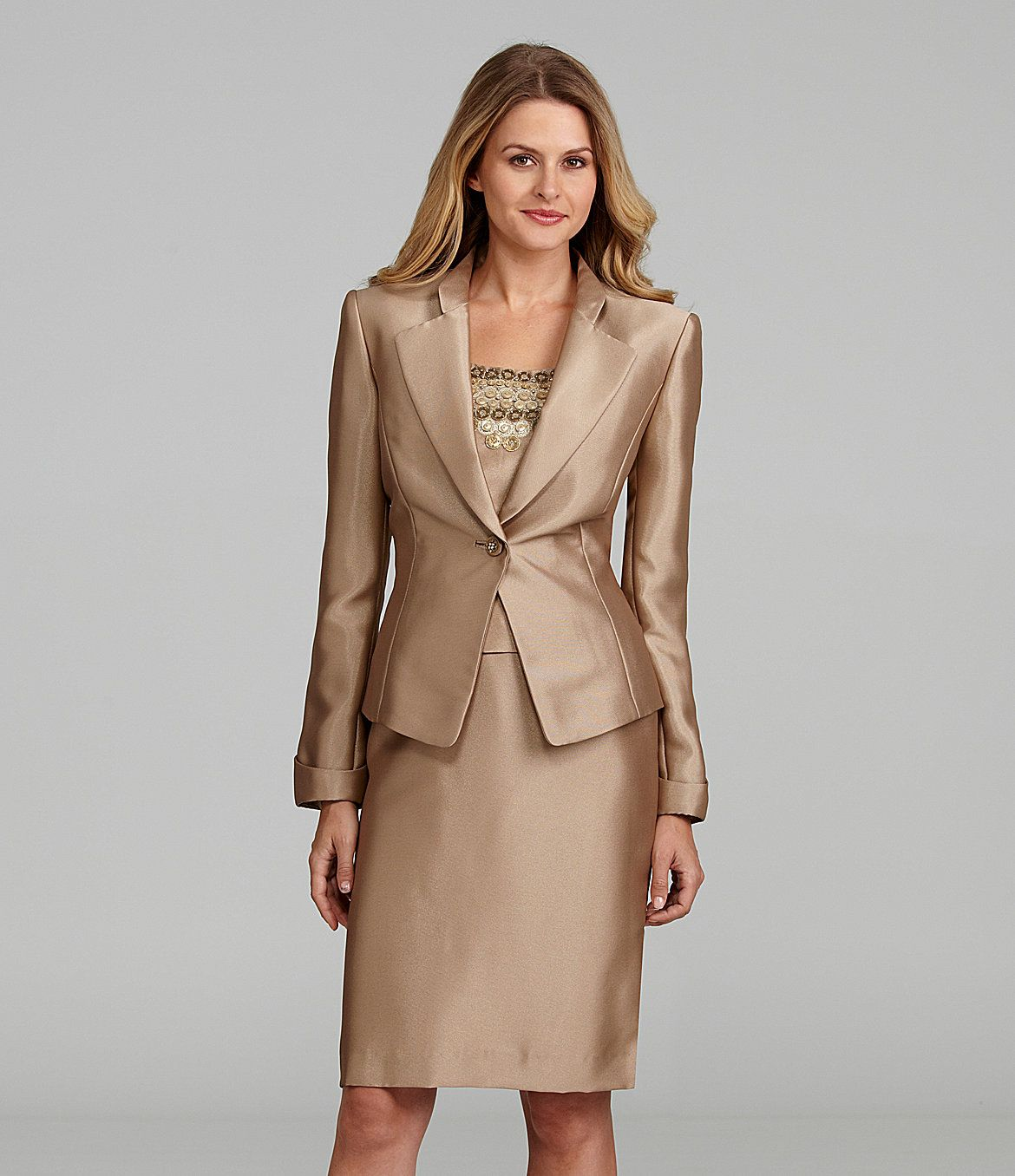 d41ee82dc592 Tahari by ASL Shantung 3-Piece Skirted Suit | Dillards.com | Pant ...