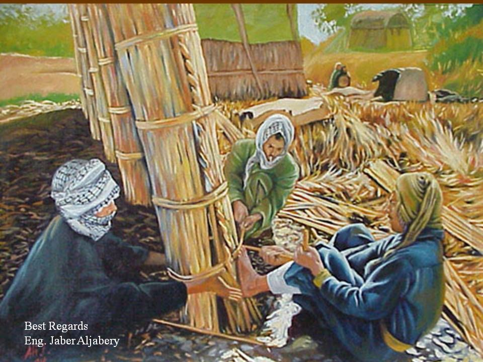 صناعة البيوت من القصب Arabic Art Oriental Art Art