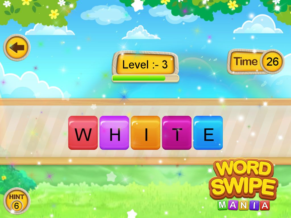Word Swipe + Best Kids For Games + Android Studio + Ready