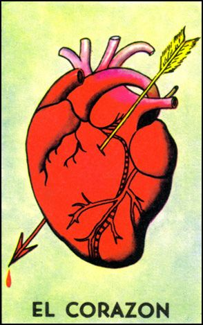 """Heart"""" card from the Mexican Lottoria game. 