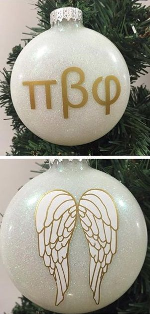 Pi Beta Phi angel ornament #piphi #pibetaphi