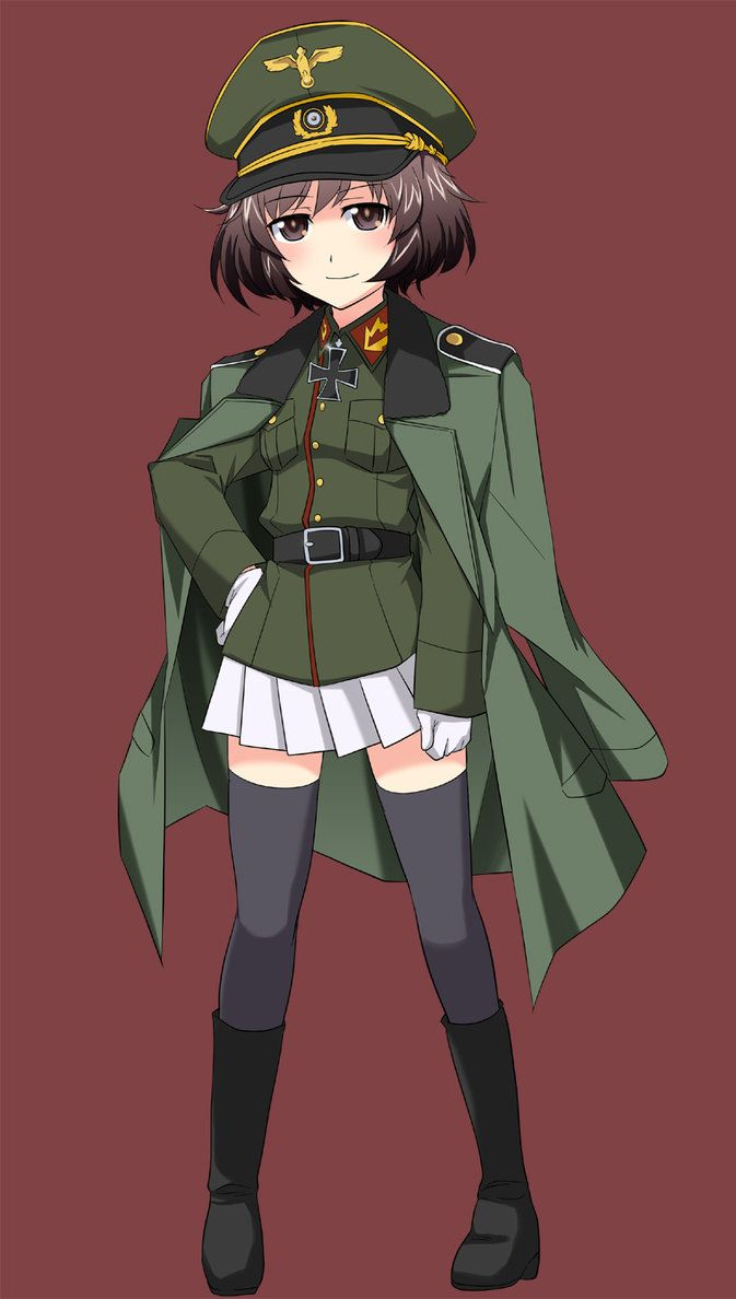 i know i know maybe found another on the web but still it is awsome to see Yukari Akiyama in uniform as Guderian who knows maybe she can comitted with Riko Matsumoto (aka Erwin-chan... real name i ...