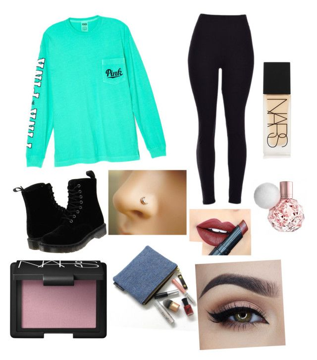 """""""Untitled #120"""" by laxchic02 on Polyvore featuring Victoria's Secret, Dr. Martens, Fiebiger and NARS Cosmetics"""