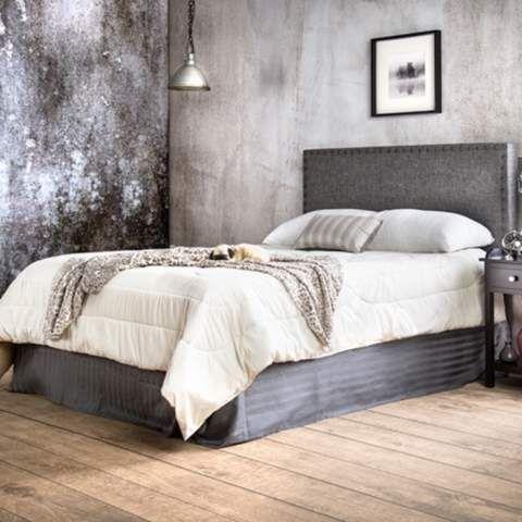 Brande Gray Full/Queen Upholstered Headboard - #7X677 | LampsPlus.com