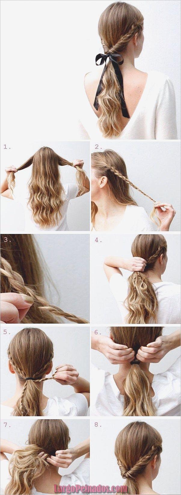 35 Peinados paso a paso fáciles y rápidos para niñas » Largo Peinados