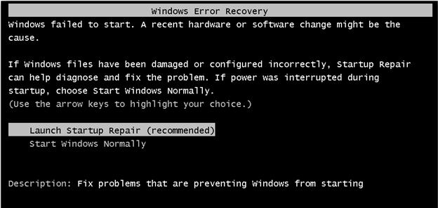 If You Get Windows Error Recovery Screen In Windows 7 Fix It In 2020 Fix It Windows System Restore