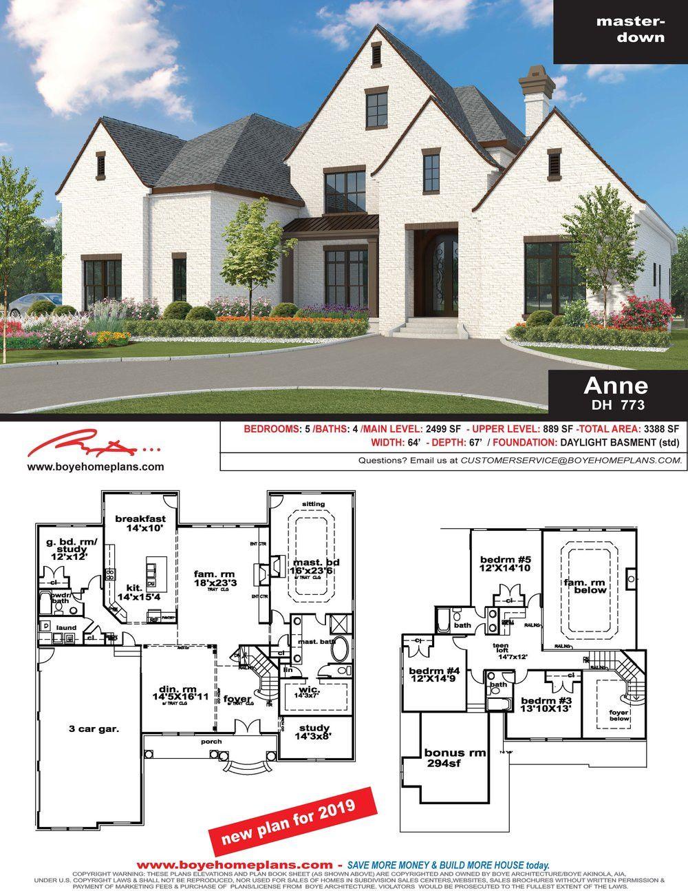 Anne Plan Dh 773 Custom Home Design House Plans Modern House Floor Plans House Plans Custom Home Designs
