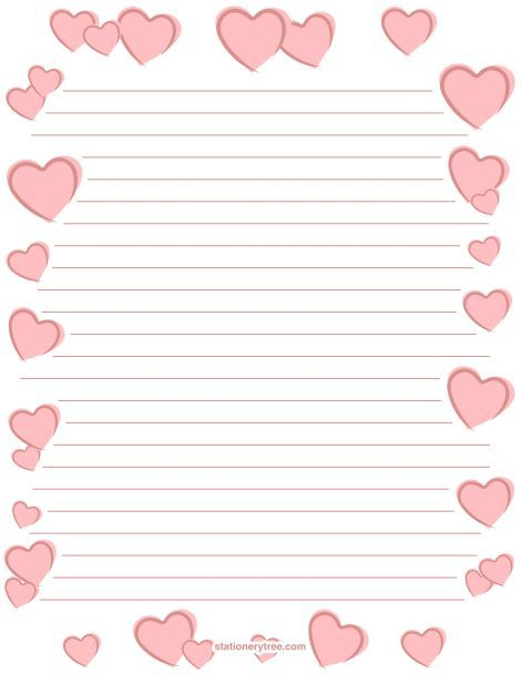 Printable romantic stationery and writing paper Free PDF - free handwriting paper template