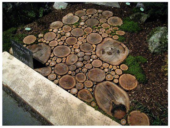 tree trunk walkway