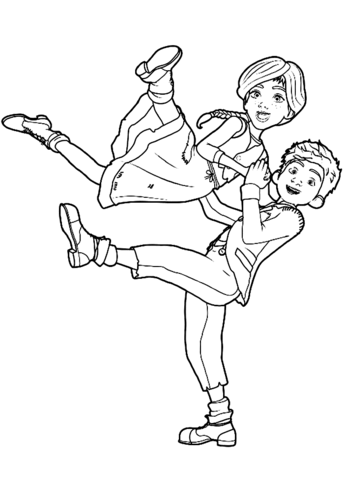 freemovie coloring pages | Félicie Dance with Victor Coloring page | Coloring pages ...