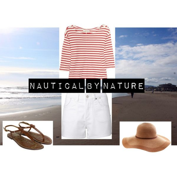 How to Wear: Breton at the Beach, created by molly-ryan on Polyvore