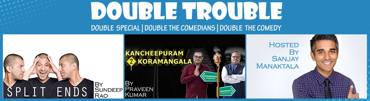 Double Trouble @ Alliance Francaise - http://explo.in/1XI9ZWR #Bangalore #Comedy